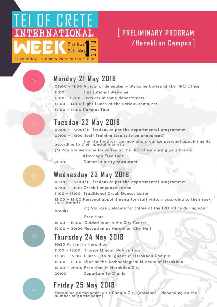 international week 2018 t e i of crete university of applied